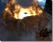 Simulação de um vulcão.